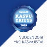 Vuoden 2019 kasvuyritys -sertifikaatti